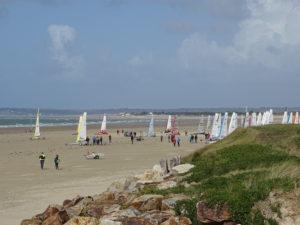 Activite hors camping - plage char a voile - camping esperance 4 etoiles avec espace aquatique - Cotentin - Normandie
