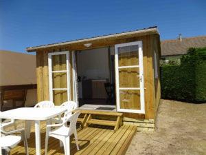 Location hebergement - Tithome extérieur - Camping l'Espérance 4 etoiles - Denneville - Cotentin - Normandie