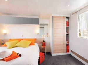 Location mobil-home - Handi Life chambre parents camping esperance 4 etoiles - denneville - Cotentin - normandie