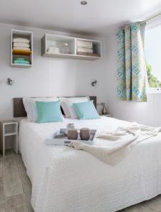 Location mobil-home - SUPER-TITANIA-CHAMBRE PARENTS- camping esperance 4 etoiles avec espace aquatique - Denneville - Cotentin - Normandie