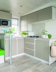 Location mobil-home - SUPER-TITANIA-CUISINE - camping esperance 4 etoiles avec espace aquatique - Denneville - Cotentin - Normandie