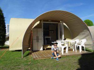 Location tente coco sweet exterieure face - camping l'Espérance avec espace aquatique - Cotentin - Manche - Normandie - Barneville Carteret Portbail