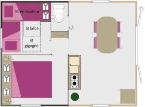 Location tithome - Plan Tithome - camping esperance 4 etoiles - espace aquatique - cotentin - normandie
