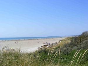 Plage cote des isles - Denneville - camping esperance 4 etoiles avec espace aquatique - cotentin - normandie